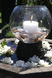 Candle bowl stock image