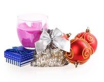 Candle, box, bag Royalty Free Stock Photos