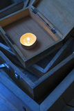Candle in the box Stock Photos
