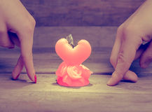 Candle of broken love Stock Image