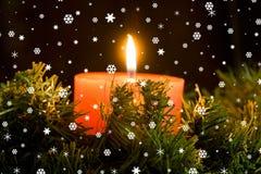 Candle burning stock image