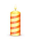 Candle. Burning candle isolated on white background, illustration Stock Image