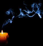 Candle Smoke in the Night Stock Photography