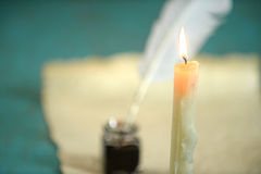 Candle Burning Royalty Free Stock Photography