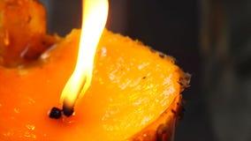 Candle burning stock footage