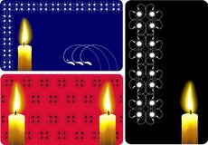 Candle business card set Royalty Free Stock Photo