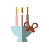 Candle candelabra icon image Stock Photography