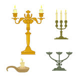 Candle and candelabrum Stock Image
