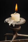 Candle in the candle holder Royalty Free Stock Photo