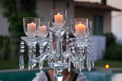 Candle and candle holders Stock Photos