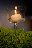 Candle and candle holders Stock Image