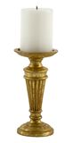 Candle in candlestick. Isolated on white background stock images