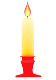 Candle on the candlestick. Stock Images