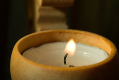 Candle in a candlestick Stock Photography