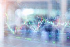Candle a carta do gráfico da vara da troca do investimento do mercado de valores de ação foto de stock