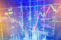 Candle a carta do gráfico da vara do busi de troca do investimento do mercado de valores de ação Fotos de Stock
