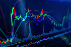 Candle a carta do gráfico da vara do busin do tradin do investimento do mercado de valores de ação fotos de stock royalty free