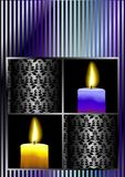 Candle celebration card vector Stock Photography