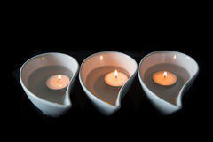Candle In Ceramic Bowl II Royalty Free Stock Photography