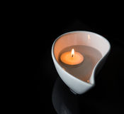 Candle In Ceramic Bowl IV Royalty Free Stock Images