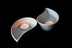 Candle In Ceramic Bowl XI Royalty Free Stock Photo