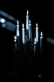 Candle Chandelier Stock Photo