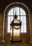 Candle chandelier at New York Library Stock Photo