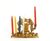 candle chanukkah hanukiah holder στοκ φωτογραφία