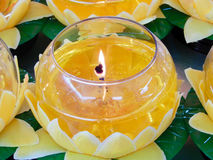 Candle in chinese temple Royalty Free Stock Photo