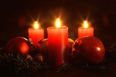 Candle - Christmas Stock Images