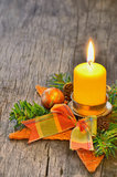 Candle and Christmas Stock Photos