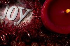 Candle and christmas bingo numbers Stock Image