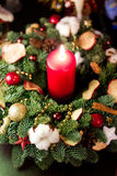 Candle and Christmas Stock Image