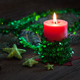 Candle for christmas Royalty Free Stock Photography