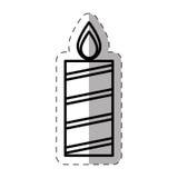 Candle christmas decoration cut line. Illustration eps 10 royalty free illustration
