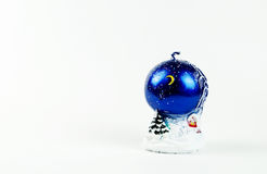 Candle. Christmas holiday fun family blue new year snow decor decoration stock photography