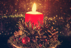 Candle Christmas ligts Royalty Free Stock Images