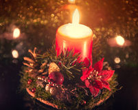 Candle Christmas ligts Stock Photos