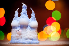 Candle (Christmas, new year, holiday) Royalty Free Stock Images