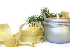 candle christmas tree Στοκ Εικόνα