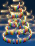 Candle christmas tree Royalty Free Stock Photos