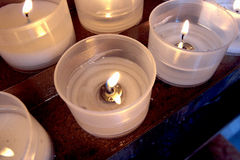 Candle in the church Royalty Free Stock Image