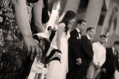 Candle in the church Royalty Free Stock Images