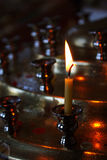 Candle. At church, memory, religion Stock Photo