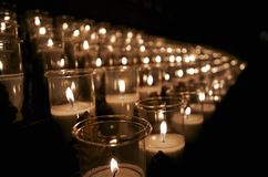 Candle in a church Stock Photography