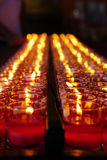 Candle in clear glass light Royalty Free Stock Image
