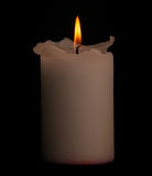 Candle with clipping path. Royalty Free Stock Images