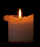 Candle with clipping path. Stock Photography