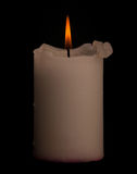 Candle with clipping path. Royalty Free Stock Photography