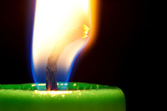 Candle close-up Stock Images